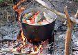 Приготовление свежепойманной рыбы